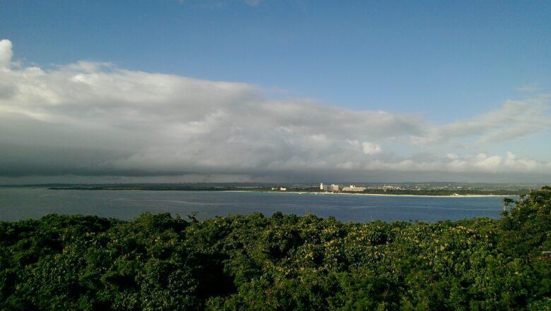竜宮城展望台から望む前浜ビーチ
