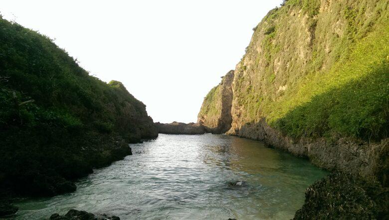 来間島にあるタコ公園下にあるビーチ