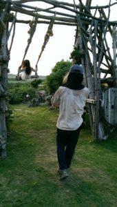 天海山石庭にある巨大ブランコ