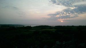 天海山石庭から夕陽