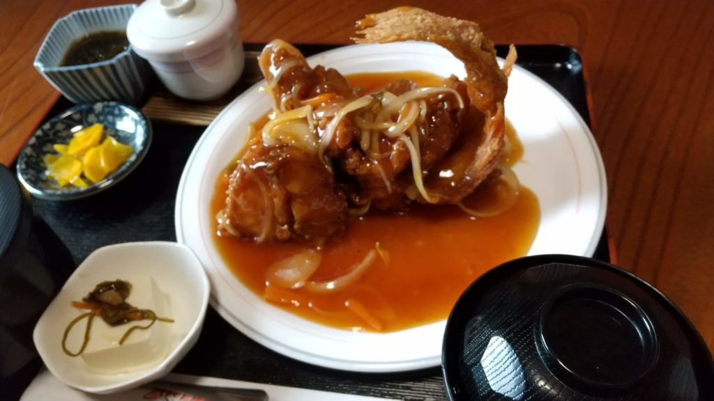 赤魚甘酢定食