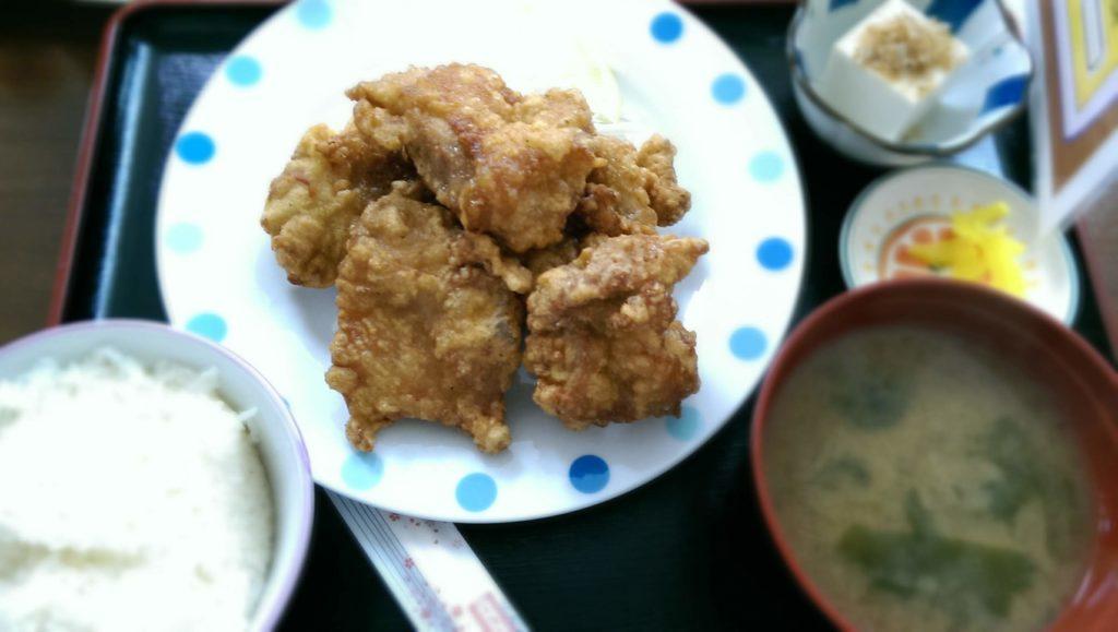 ハイカラ松の唐揚げ定食
